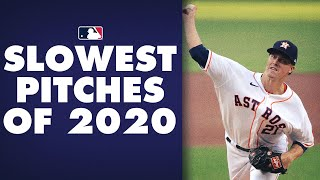 MLB's Slowest Pitches of the 2020 Season! (Ft. Zack Greinke, tons of eephus pitches!)