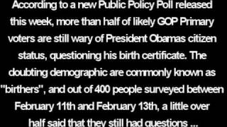 "US Election News - PPP: 51% of GOP Primary Voters are ""Birthers"""