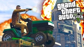 The Amazing Lawnmower Parkour Race! (GTA 5 Funny Moments)