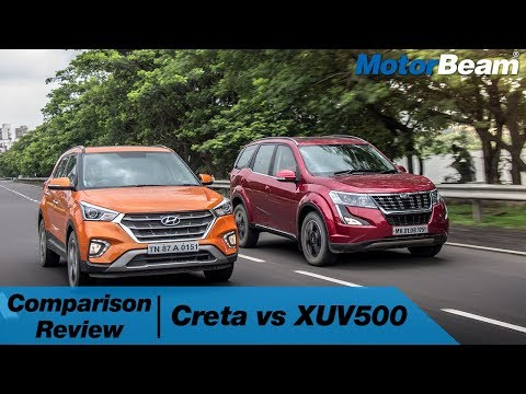 Mahindra XUV500 vs Hyundai Creta - Comparison Review | MotorBeam