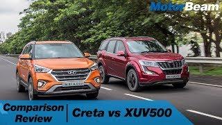 Mahindra XUV500 vs Hyundai Creta - Comparison Review | MotorBeam