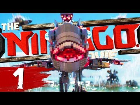GIANT ROBOT SHARK ATTACKS THE CITY - The Lego Ninjago Movie Videogame Part 1 | Pungence