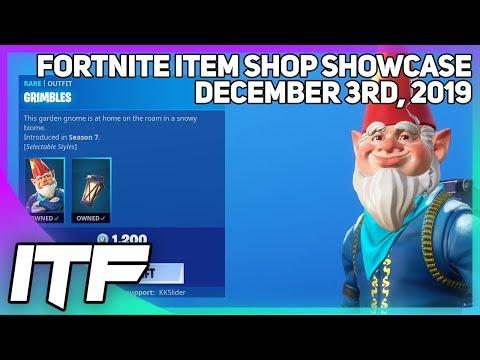 Fortnite Item Shop *RARE* GRIMBLES IS BACK! [December 3rd, 2019] (Fortnite Battle Royale)