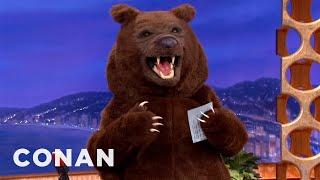 Wild Bear Hijacks Conan's Show - CONAN on TBS thumbnail
