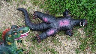 Dinosaur Godzilla War vs Gigantosaurus. Dinosaurs Toys Battle