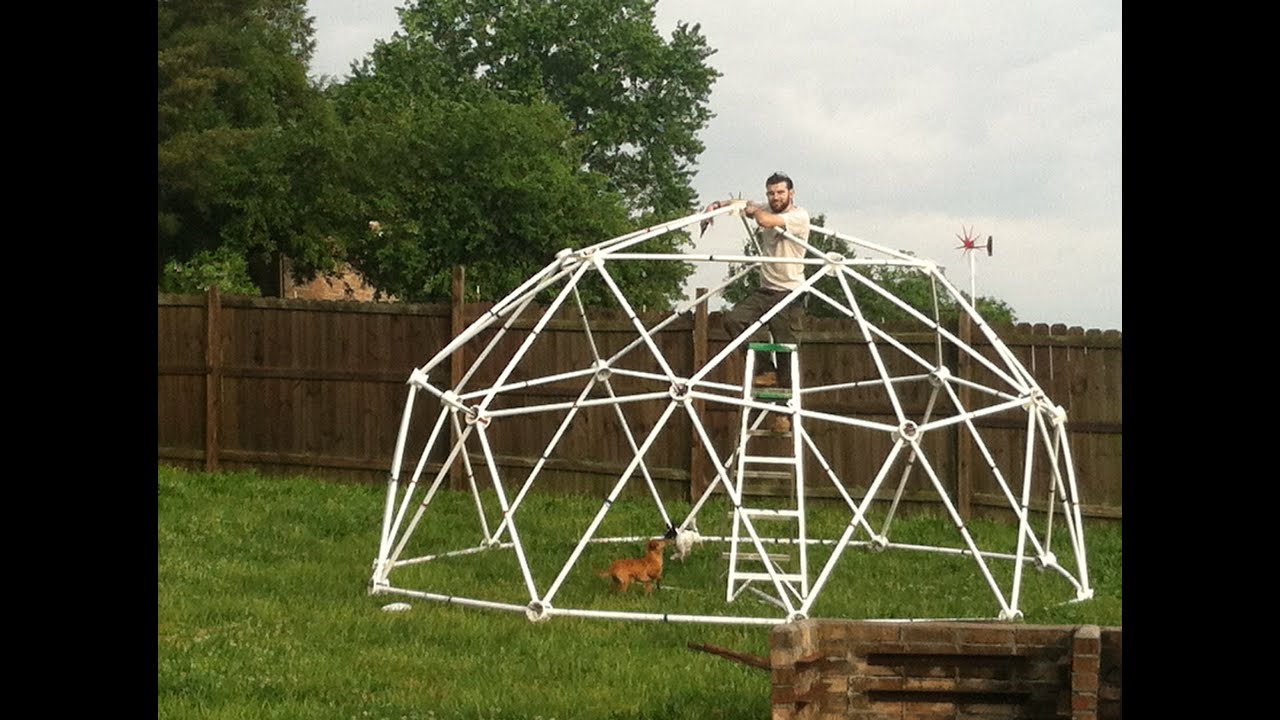 instructions on how to build a geodesic dome