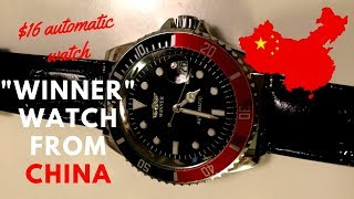 """$16 """"Winner"""" Automatic Watch From China - A Winner Or Garbage?"""