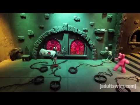 Robot chicken gummy bear tower scene