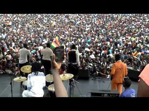 at inauguration.. Allan Chimbetu