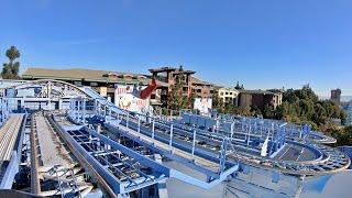 Goofy's Sky School Coaster Front Seat (4K POV) Disneyland Resort