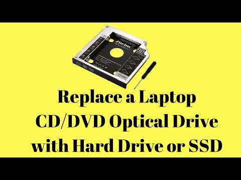 Replace a Laptop DVD Optical Drive with Hard Drive