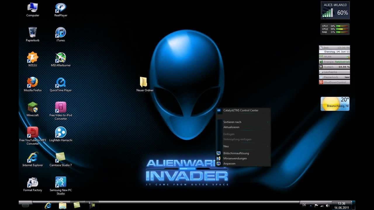 Download Alienware Theme With HD Wallpapers For Windows 7 and 10
