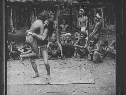 Borneo tribal dance 100 years ago