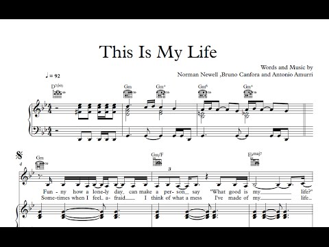 This Is My Life - Shirley Bassey [Sheet & Midi Download] - YouTube