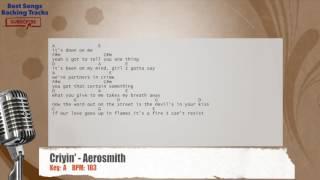 Criyin' - Aerosmith Vocal Backing Track with chords and lyrics