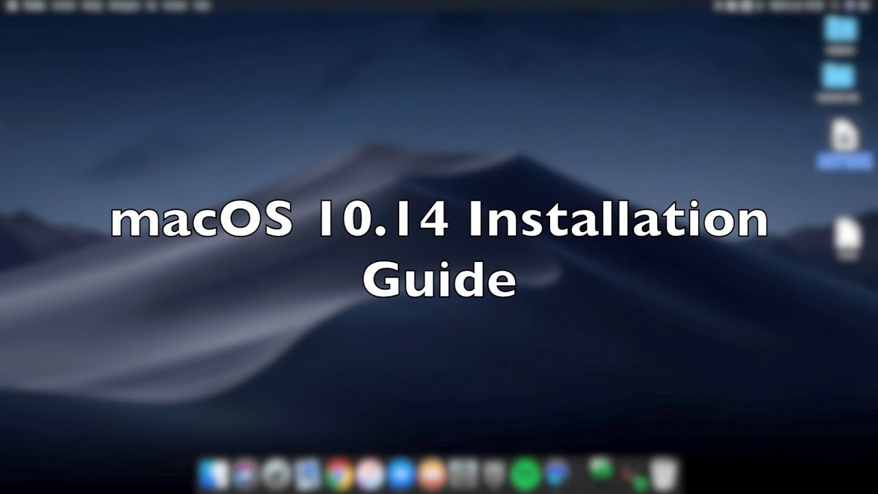macOS 10 14 Mojave installation - Hackintosh