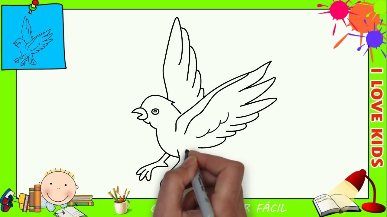 Como Desenhar Um Passarinho Facil Passo A Passo Para Criancas E