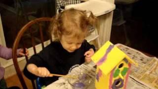 Painting Birdhouse