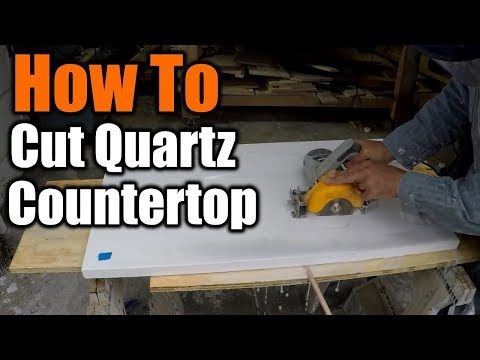 How To Cut A Sink Hole In Granite And Quartz Countertops | THE HANDYMAN | 1940s Bathroom Remodel