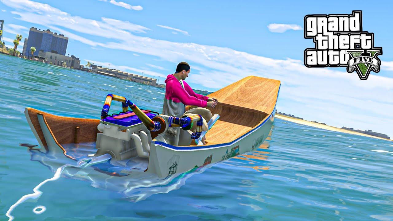 เรือซิ่งไทยแลนด์ (GTA V Mod Boat Thai Zing)