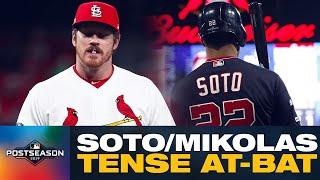 Nationals' Juan Soto, Cardinals' Miles Mikolas have tense at-bat in NLCS Game 1