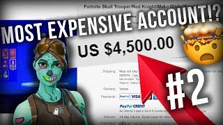 ACHETER LE MONDE MOST EXPENSIVE FORTNITE ACCOUNT!?? PARTIE 2!!!