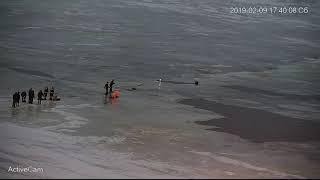 В Рыбинске спасали мужчину, который провалился под лёд