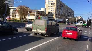 ул. Максима Богдановича из автобуса, Минск 2017