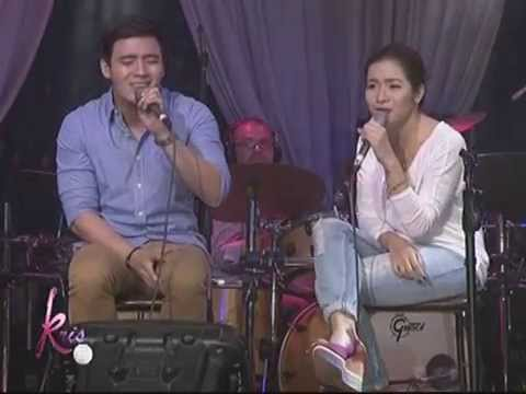 Angeline & Erik 'The Closer I Get To You' duet on KrisTV