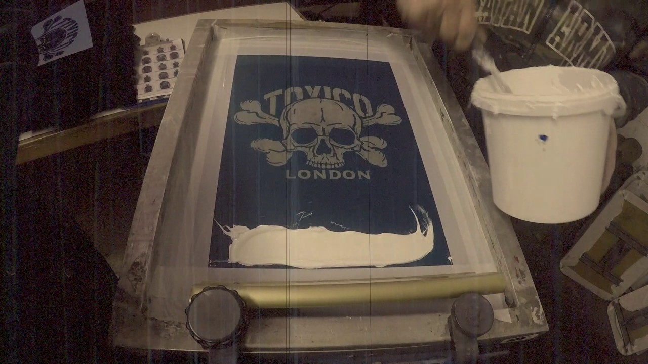 Screen Printing at Toxico