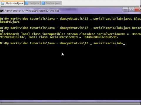 ვერსიის კონტროლი serialVersionUID - java