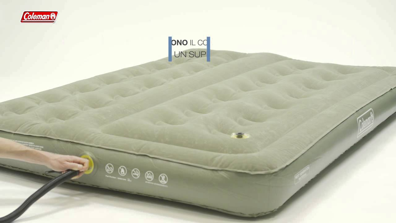 Materasso Letto Gonfiabile Airbed.Coleman Comfort Bed Double Materassini Gonfiabili It Youtube