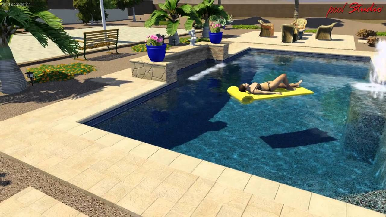 Pool studio 3d swimming pool design software youtube for Pool design program