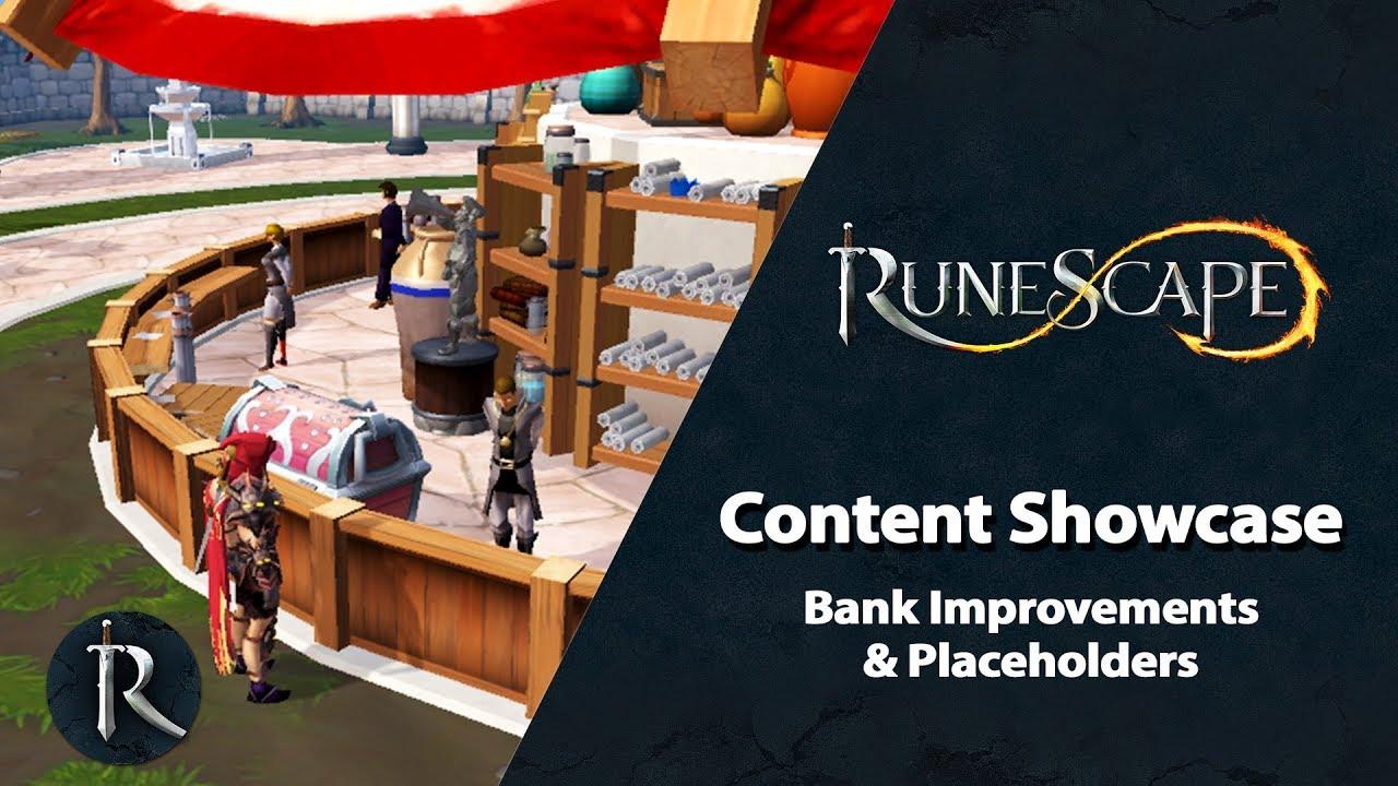 RuneScape Content Showcase (July 2019) - Bank Improvements & Placeholders