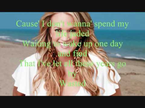 Carrie Underwood Wasted sing along