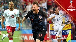 All 4 Goals from Day 17 of the World Cup
