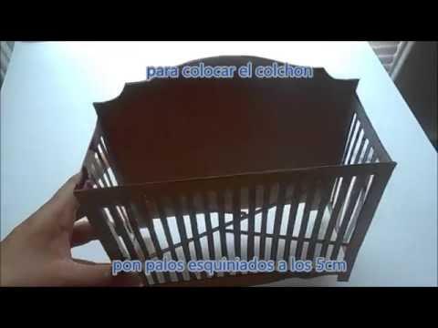 como hacer una cuna para muñecas - YouTube