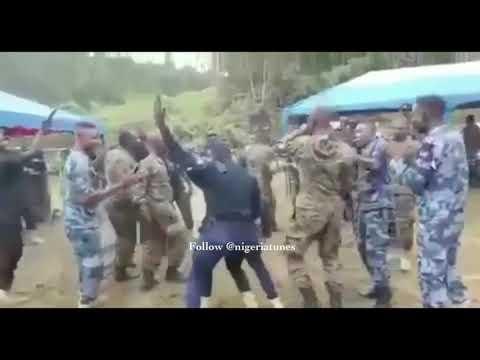 Ghana Soldiers one corner dance