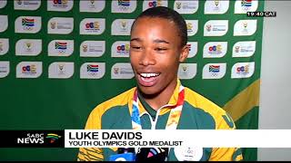 South African Youth Olympics team returns home