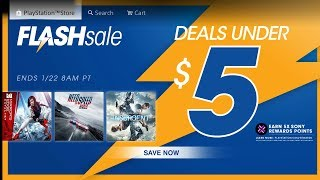 FLASH SALE PS4 GAMES $5 & UNDER (Gaming News 2018)