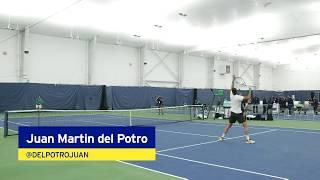 Juan Martín del Potro Warms Up for the 2018 US Open Men's Final