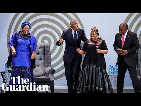 Obama does Nelson Mandela's 'Madiba Dance' in South Africa