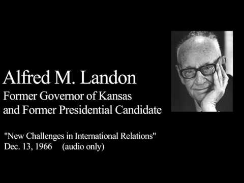 Landon Lecture | Alfred Landon - audio only