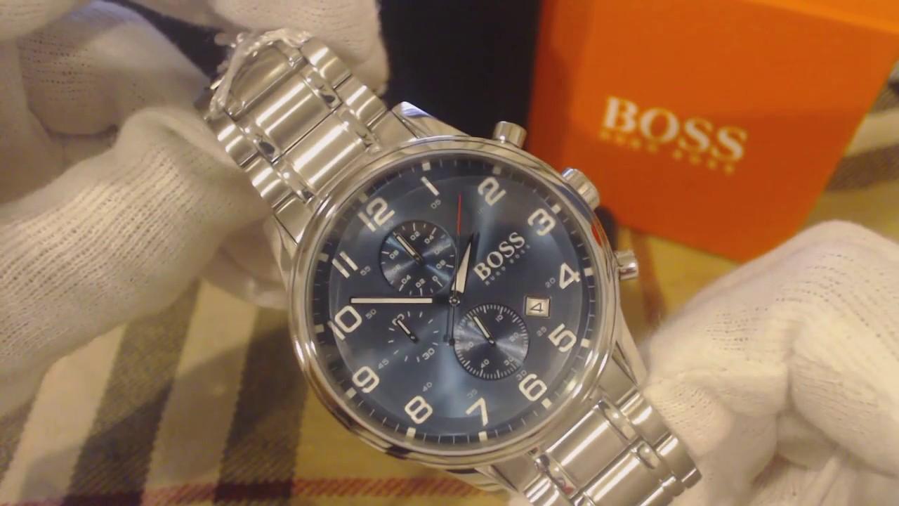 dee390d80 Men's Hugo Boss Aeroliner Chronograph Watch 1513183 - YouTube