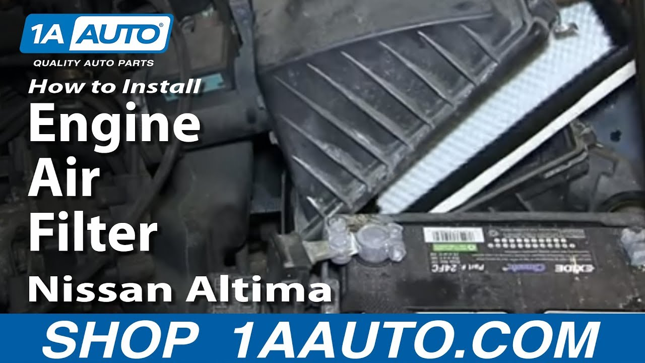how to install replace engine air filter 1993 01 nissan altima [ 1280 x 720 Pixel ]