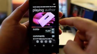 Metrotube demo on Nokia Lumia 800. Incredible Youtube app for Windows Phone