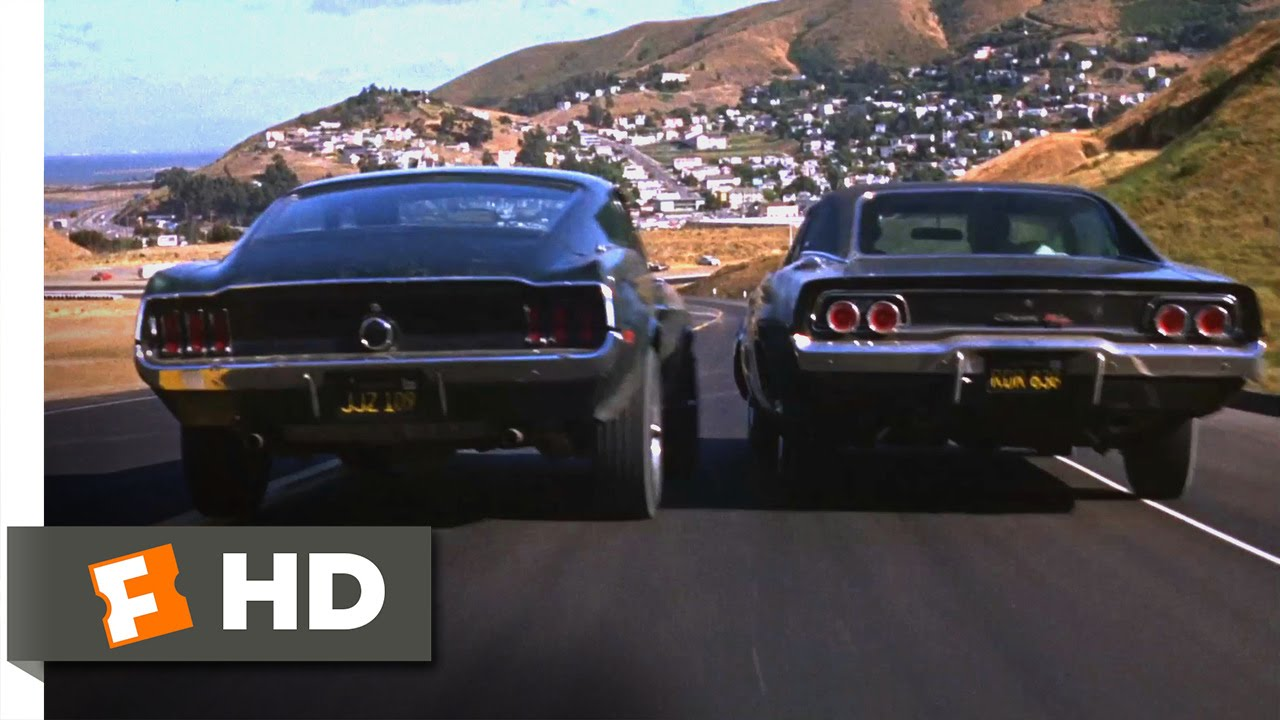 Gto Muscle Car Wallpaper Bullitt 1968 Ford Mustang Vs Dodge Charger Scene 5