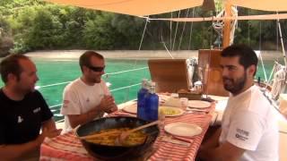 Nixe Iii Project: Comiendo Paella. Isla Skorpios