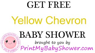 Yellow Chevron Baby Shower Invitation & Theme | Ike BabyShowers