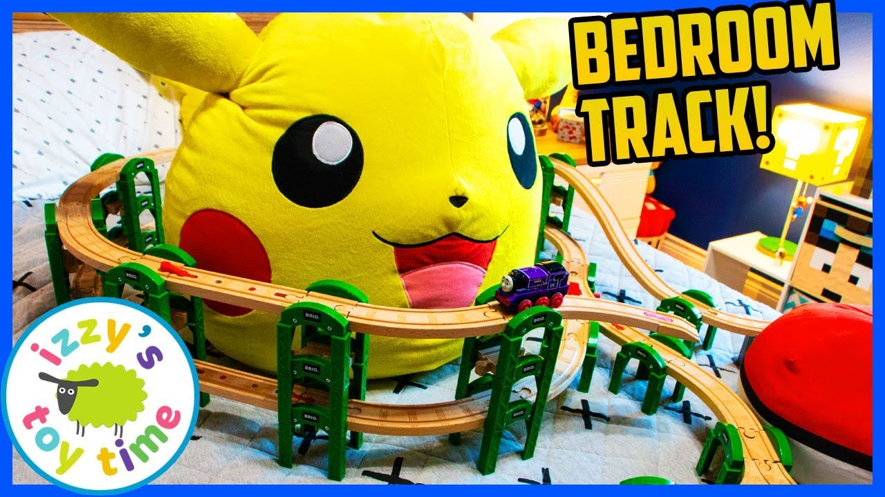 BUBS BEDROOM PIKACHU TRACK! With Thomas And Friends! Fun